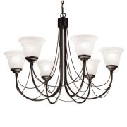 Carisbrooke 6 Light Gothic Style Chandelier finished in Black - ELSTEAD CB6 BK
